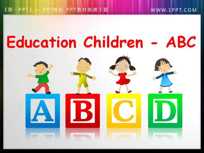 字母ppt背景图片 儿童英语字母abc背景的ppt小插图素材