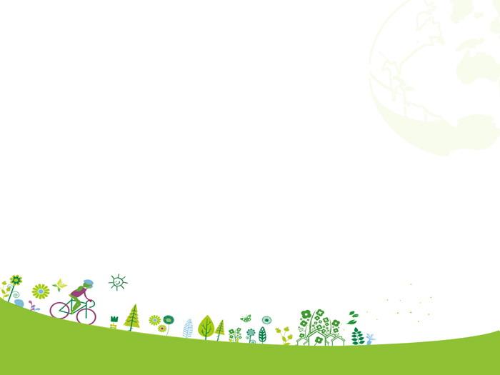 绿色卡通ppt背景图片 两张绿色卡通环保主题幻灯片背景图片