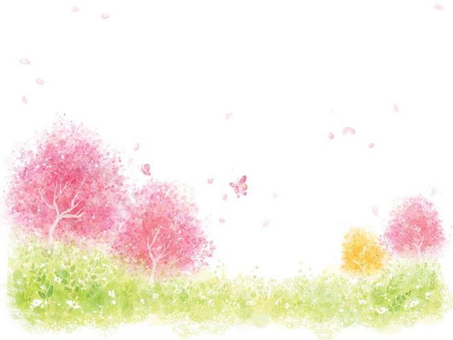 春天ppt背景图片 彩色彩绘ppt背景图片